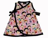 Japanese Clothing- Kokeshi Doll - Geisha Kimono - Baby Girl Dress - Harajuku Dress- Girls Dress - Japanese Baby Clothes - nb to 6