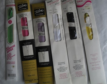 Zippers 6 Polyester all Purpose New in Packages