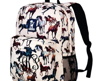 Monogram Backpack and Lunch Bag Set - Wildkin - Personalized - Horse Dreams - Back to School Crackerjack