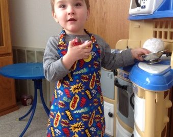 Reversible apron_action words_Apron_toddler_Kids Arts and Crafts