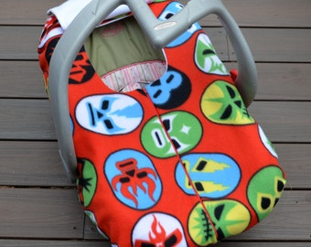 Libre Mask Baby Blanket Cover for Car Seat, Geek Baby, Nacho Libre, Wrestling, Unique Baby Gift