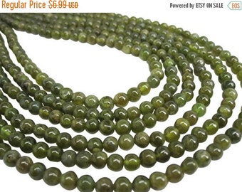 SALE Natural Green Tourmaline Beads, Round, Smooth Round, Wholesale Beads, SKU 4586A