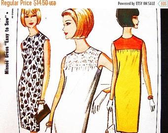 on SALE 1960s Dress Pattern McCalls Misses size 10 12  Womens Sheath Dress Sleeveless Dress Pattern Easy to Sew Vintage Sewing Pattern