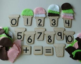 Ice Cream Math - Sandpaper Numbers