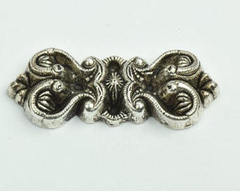 metalized Brooch , victorian style sold by each , 09524AS