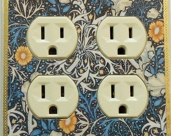 5 CHOICES- William Morris wallplates w/ MATCHING SCREWS- Art Nouveau switch cover Art Nouveau decor Art Deco William Morris interior decor