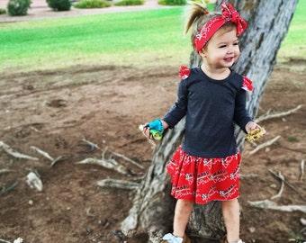 Custom Fabric Design Knit Play Ruffle Swing Dress