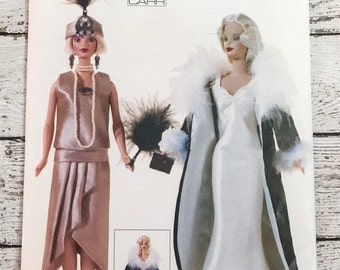 """Vogue Craft 694 7162 Fashion Doll 11-1/2"""" Barbie Clothes Sewing Pattern Linda Carr UNCUT"""
