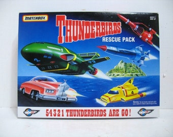 Vintage Thunderbirds Rescue Pack Diecast Collectible Set Puppet Si-Fi Space Television Series MIB NIB