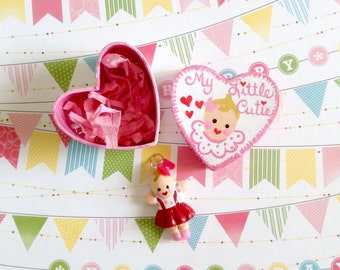 Pink Doll/Kewpie Baby/Doll Necklace