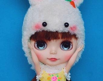 Blythe lovely  white bunny hat