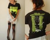 Distressed PUNK Tee Vintage 1989 1990 7 SECONDS Soul Force Revolution North American Tour Distressed Punk Rock Band T Shirt (m l)