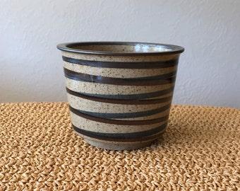 Small Striped Flower Pot