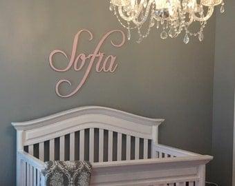 Nursery Name Sign - Nursery Decor - Nursery Letters - Wooden Letters - Girls Nursery Decor - Wall Letters - Wall Decor - Name Sign -GLITTER