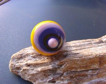 Ringtop lampwork bead for rings
