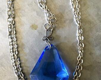 Vintage Blue Crystal Pendant