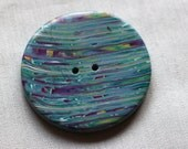 Blue, Purple, and Green Spiral Extra Large ButtonNo. 186