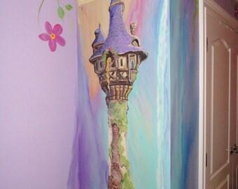 Estimate for unicorn art castle murals kids rooms art for Disney princess castle mini mural