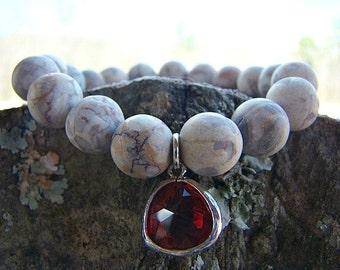 Bead Bracelet, Gemstone Bracelet, Stretch Bracelet, Beaded Bracelet, Womens Jewelry, Girl, Charm Bracelet, Stone Bracelet, Boho Chic