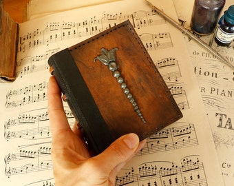 Mini Magic Book, Blank Journal, Vintage Worn Leather