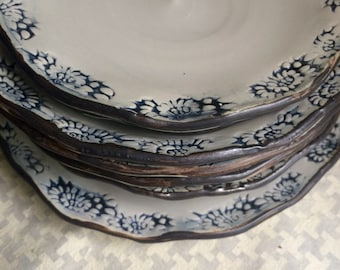 Set of Four Lunch Plates 7-8""