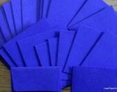 50 Mini Envelopes in Navy Blue Cardstock