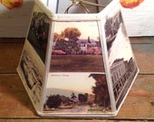 Manchester VT Lampshade, Lampshade Vintage Postcards 5x10x7 Clip On - Vintage Equinox Hotel and Manchester Village