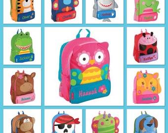 Preschool backpack / toddler backpack / stephen joseph backpack / personalized backpack / SIDEKICK
