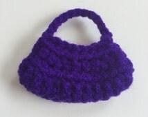 Handmade Ellowyne Gene Clothes Purse Handbag Crochet Purple