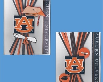 Auburn University Graduation Card --Graduation Theme Cards -- Free Shipping in USA