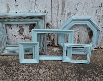 Aqua Provence Picture Frame Collection Gallery Wall Frames