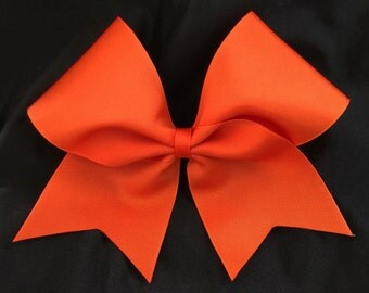 Custom Cheerleader Orange Cheer Hair Bow