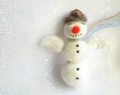 Christmas Ornament,Needle Felted Snowman Ornament ,Christmas Tree Ornament,Snowman,Felt Snowman