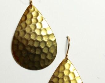 Brass hammered drop