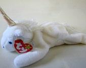 Ty Beanie Baby MYSTIC Retired 1993 Original White Unicorn Plush Toy Animal Rare Collectible Iridescent Horn