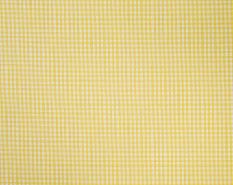 Yellow Gingham Fabric, Yellow and White Checked Cotton Fabric, 3 mm check  cotton fabric for patchwork and crafts
