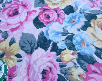 Vintage rose fabric yardage
