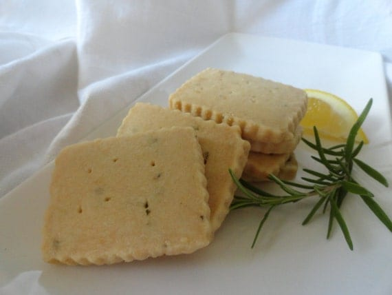 Lemon Rosemary Shortbread Cookies by buckscountycookie on Etsy