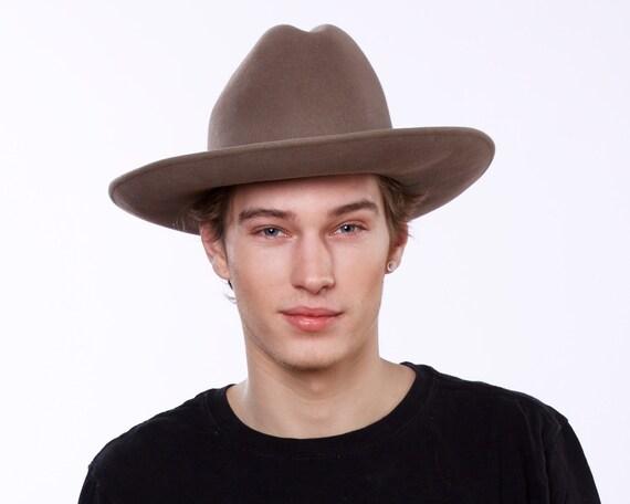Men's Cowboy Hat Western Hat Rancher's Hat Fall Fashion Winter Accessory Felt Cowboy Hat Winter Hat Stetson Fall Accessory Indiana Jones Hat