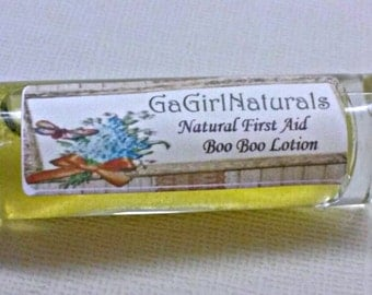 SALE Natural First Aid Boo Boo Lotion, Herbal, Essential Oils