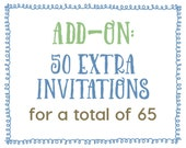 Add-On : 50 Extra Invitations for a Total of 65 Invitations