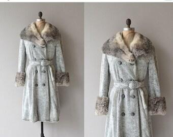 25% OFF.... Britannia coat | vintage 1970s rabbit coat | rabbit fur belted 70s coat