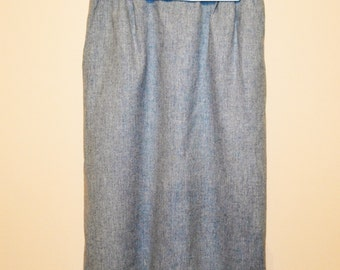 Vintage Pendleton Skirt Soft Blue Traditional Wool