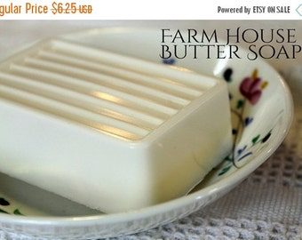 Sale Shea Butter Soap- YUZU- Farm House Butter Soap large 5 oz. -Citrus Soap, Vegan, shea butter, coco butter, mango butter, argan oil