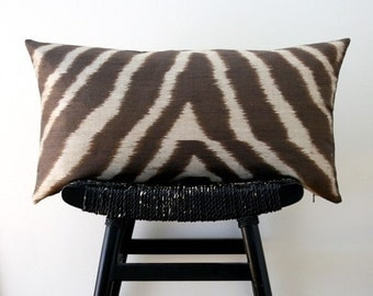 ON SALE SAFARI Pure Silk Cushion Cover 63 x 34 cm