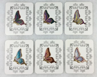 Large Sideview Butterfly - Hand Painted- for Quilter's Crafter's, Needlecrafts - #585