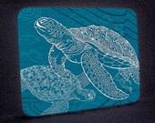 Sea Turtles One Color Cutting Board or Hot Plate