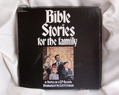 Vintage Bible Stories for the Family Vinyl LP Record Set Music 16 Stories Leif Erickson Library of Sound Education Pickwick International