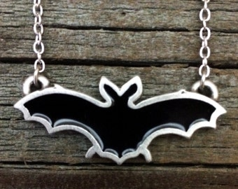 Bat Pewter Necklace