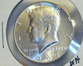 Kennedy Half Dollar / 1967 / 40 % Silver US Coin /  No. 14